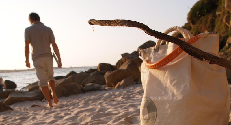 Borse in vela per la spiaggia e la barca
