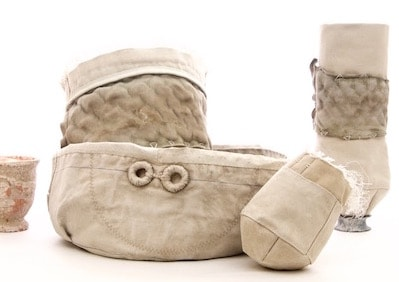 anfore e oggetti in vela di cotone belem