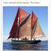 Certificato di provenienza vela. Provident Trawler Salcombe England