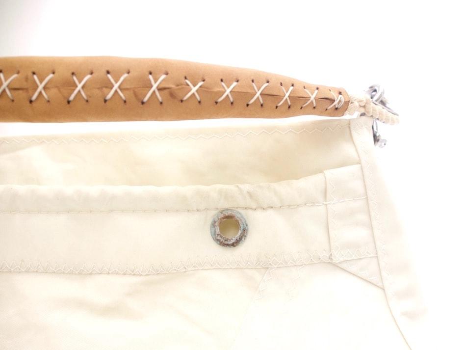 Manico in cotone epelle staccabile, occhiello ossidato originale della vela